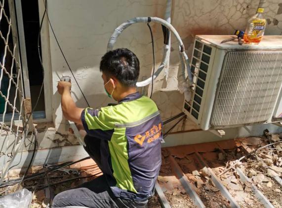 武汉春兰售后-大金中央空调外机清洗
