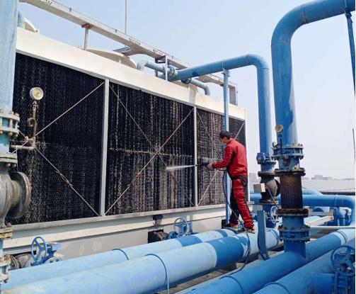 中央空调系统冷却塔清洗(图2)